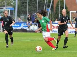 La Selección Femenina de Euskadi se midió a Irlanda en Dublín. EFF-FVF