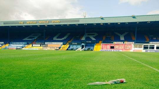 Bury were thrown out of the EFL due to severe financial difficulties. Twitter/forever_bury