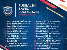Ainsi serait la liste de la Yougoslavie. Twitter