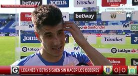 Bustinza analizó el empate ante el Betis. Captura/GOL