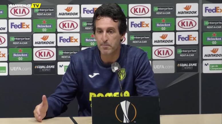 Emery analizó el Villarreal-Sivasspor. Captura/VillarrealCFTV