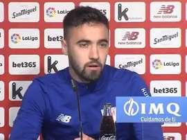 Unai López prefiere jugar con cuatro defensas. Captura/AthleticClub