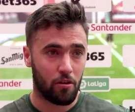 Unai López habló tras el partido. Captura/Athletic