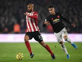 Uniteds empatam em duelo frenético com seis gols. Twitter @premierleague