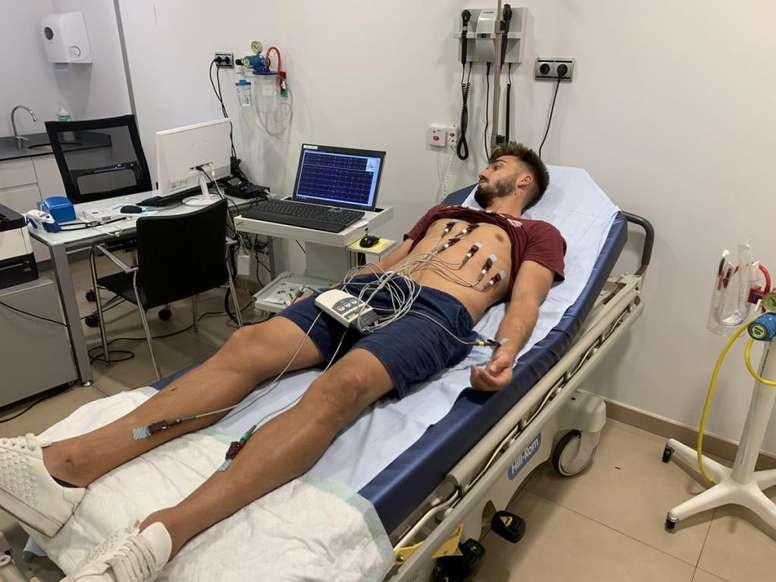 El Orihuela arrancó con pruebas médicas la pretemporada. Twitter/Orihuela_CF
