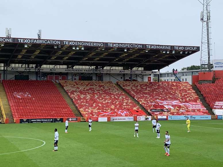 El Aberdeen perdió por 0-1 ante el Rangers. Twitter/robwicks
