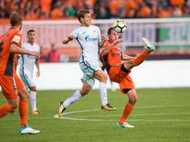 Empate a uma bola entre Ural e Zenit. Twitter/Zenit