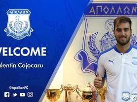 El rumano firmó por dos temporadas con el cuadro de Chipre. ApollonFC