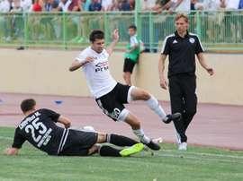 Valeri Karpin, en un partido del Torpedo Armavir. AFC-Torpedo