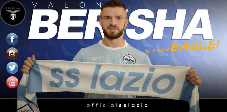 Valon Berisha, nuevo jugador de la Lazio. SSLazio