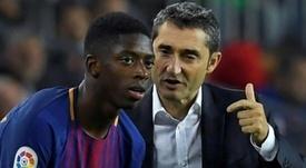Valverde fait confiance à Dembélé. EFE