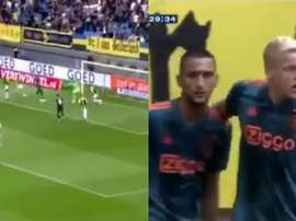 Direction le Real ? Van de Beek encore buteur avec l'Ajax. Capture/Fox