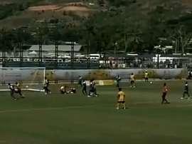 Vanuatu-Micronesia, partido Sub 23 que acabó con un 46-0 para Vanuatu. Captura