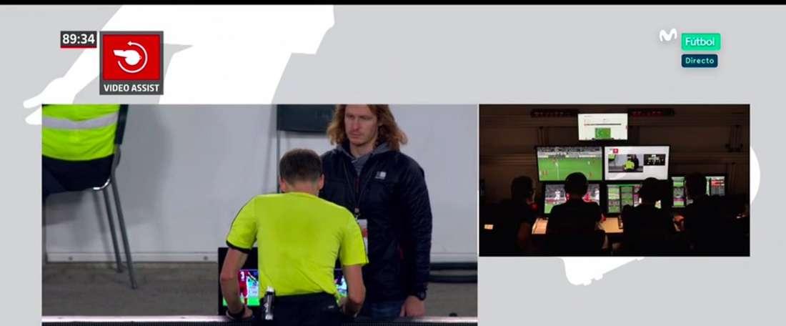 Locura en la Bundesliga. Captura/Movistar