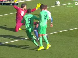Varane fingiu ser atacante para abrir o placar. Captura/Movistar+LaLiga