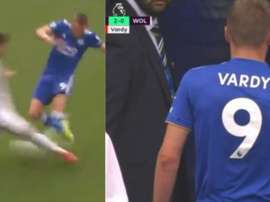 Vardy a été expulsé contre Leicester. Capture