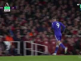 Moment gênant au stade d'Arsenal. Capture/Movistar