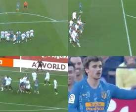Le immagini del goal di Griezmann. Captura/LaLiga