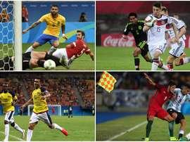 Algunas de las selecciones que jugarán los cuartos de final de los Juegos Olímpicos. BeSoccer