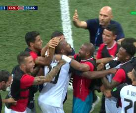 Waston scored Costa Rica's first goal. Captura