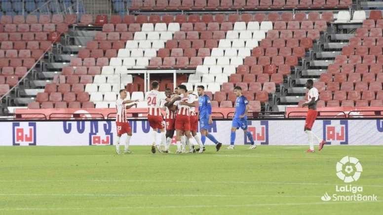 El Almería devolverá a Pedro Mendes al Sporting. LaLiga/Archivo