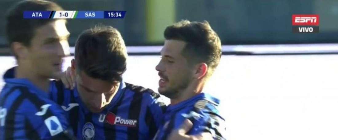 Atalanta keep on firing in the goals, Captura/ESPN