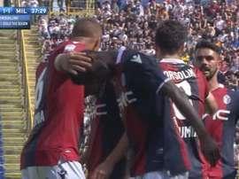 Orsolini y un gol que quedó en nada. Captura/beINSports