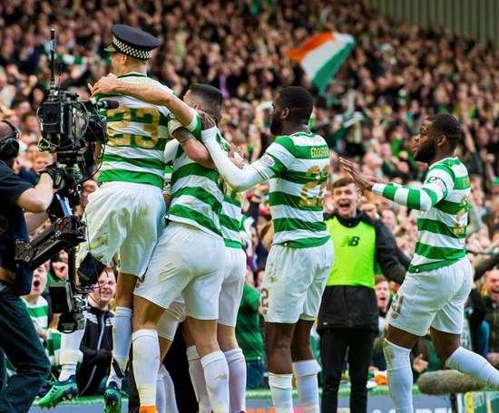 El Celtic no encontró rival de nuevo en el 'Old Firm'. Twitter/CelticFC