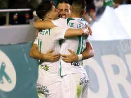 El Córdoba ganó sufriendo a un equipo en inferioridad numérica. CordobaCF/Archivo
