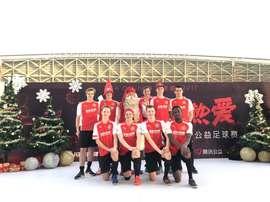 El FC Santa Claus rinde tributo a Papá Noel. Twitter/FCSantaClaus
