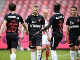 Midtjylland é o atual líder da Liga Dinamarquesa. Twitter/fcmidtjylland