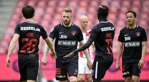 Le championnat danois espère reprendre... avec du public ! Twitter/fcmidtjylland