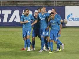 World Cup hero Artem Dzyuba scored twice. Twitter/fczenit_en