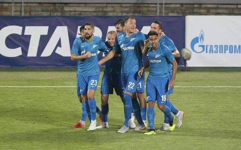 Zenit goleou Dinamo Minsk por 8-1. Twitter/Zenit