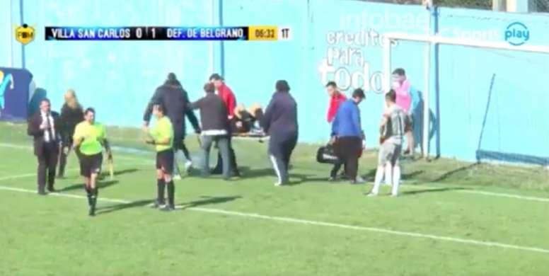 El jugador fue trasladado de urgencia a un hospital cercano. Youtube
