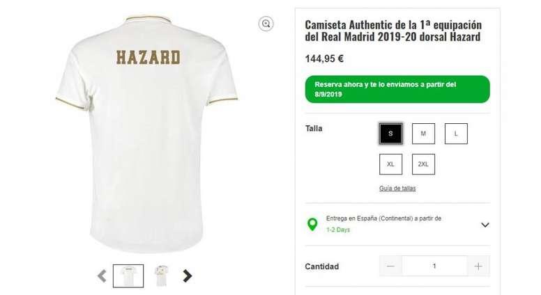 Eden Hazard fue presentado sin dorsal. EFE