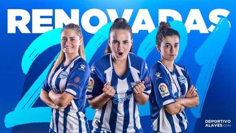 El Alavés renueva a Vera, Emma y Sanadri. DeportivoAlaves