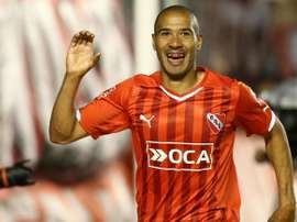 Vera celebra uno de los goles ante Belgrano. Twitter