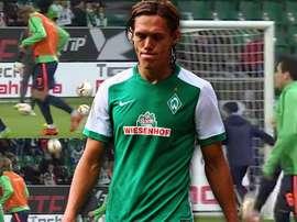 Vestergaard, jugador del Werder Bremen. Twitter.