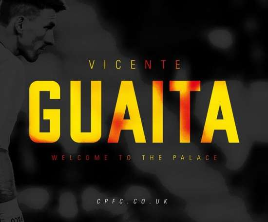 Guaita arrive en Premier League. twitter/CPFC