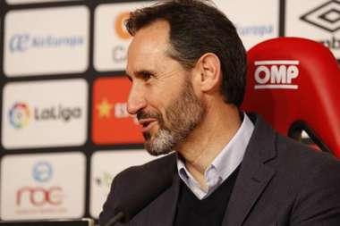 Vicente Moreno made a reference to Alex Ferguson. Twitter/RCD_Mallorca
