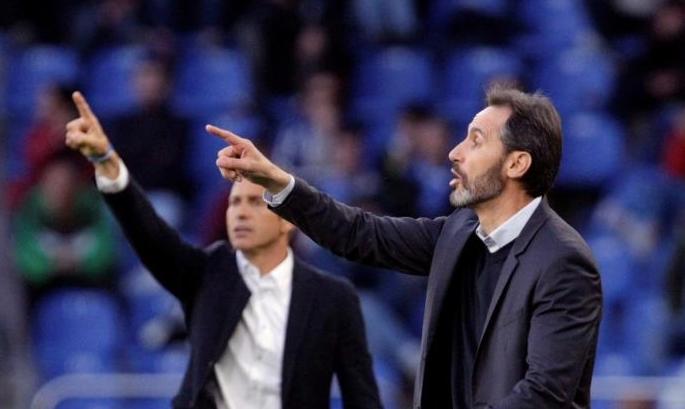 Vicente Moreno (d) consiguió dos ascensos consecutivos con el Mallorca. EFE