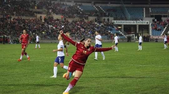La centrocampista internacional Vicky Losada ha regresado al FC Barcelona. AFP