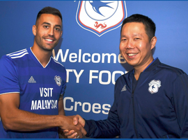 Camarasa has signed a season-long loan. Twitter/CardiffCityFC
