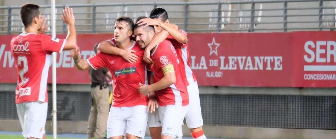 El Murcia venció al Badajoz por 2-3. RealMadrid