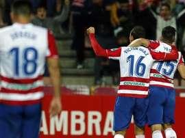 El Granada se llevó los tres puntos ante el Almería. EFE