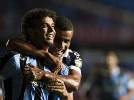 Victor Ferraz comemora gol contra o América de Cali. Twitter/Libertadores