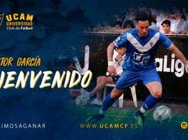 Víctor García, nuevo jugador del UCAM Murcia. UCAMMurcia