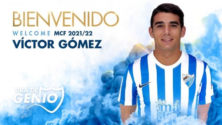 Víctor Gómez jugará en el Málaga. Twitter/MalagaCF