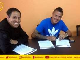 Víctor Hugo Soto ha firmado con Aucas. AucasOficial